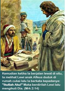 """""""Ikutlah Aku!"""" Maka berdirilah Lewi lalu mengikuti Dia."""