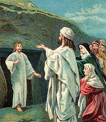 Kebangkitan Lazarus, ilustrasi Alkitab, 1905